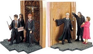 Harry Potter bookends! Yes, those will do nicely.