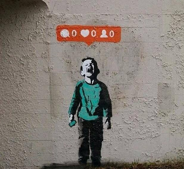 """Today's youth culture. Don't get it twisted, numbers and popularity are superficial things compared to your impact on people in real life. Good Business Acumen + Skill/Talent + Desire to Serve = Excellence "" (Quote: #NoireSalon & Art: #Banksy) 