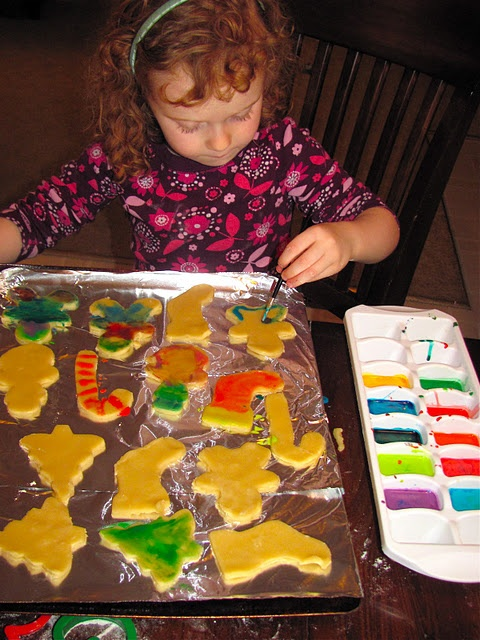 Painted Christmas sugar cookies