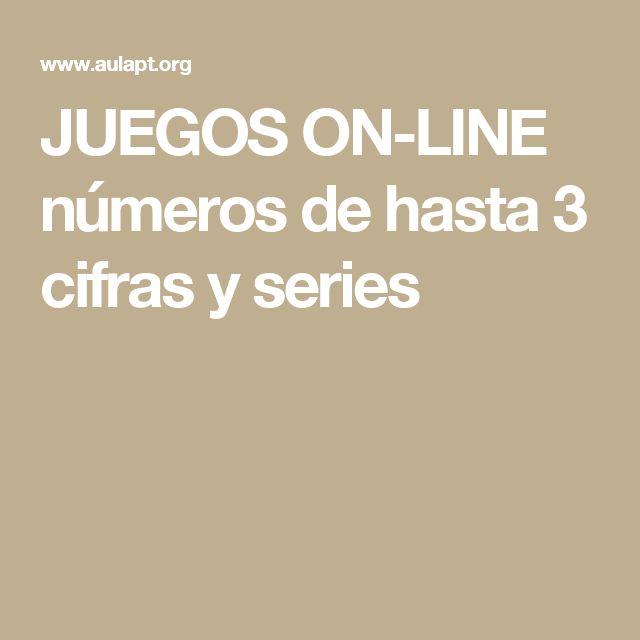 JUEGOS ON-LINE números de hasta 3 cifras y series