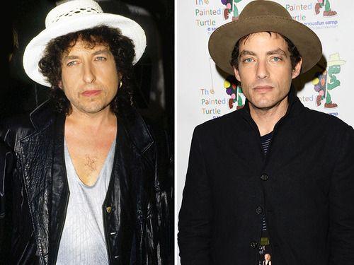 Legendary folksinger Bob Dylan and son Jakob Dylan, the lead singer of The Wallflowers