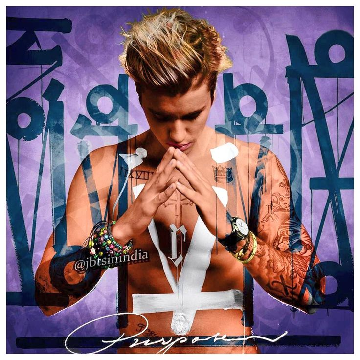 Check out this awesome coloured version of Justin Bieber's #Purpose album cover!
