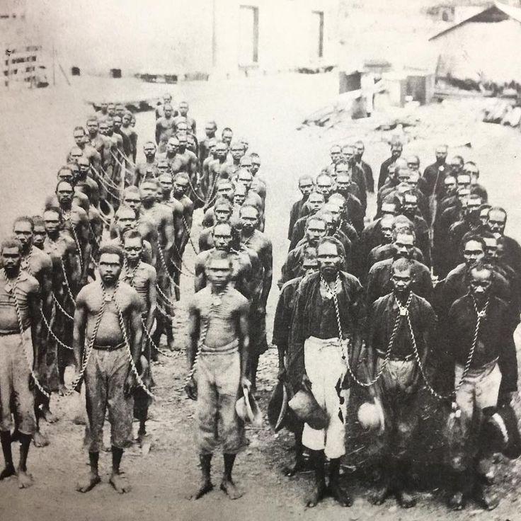 Slavery existed in Australia. Australia was built on Slavery. Aboriginal people taken prisoner after the 1926 Forrest Creek Massacre.