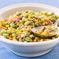 Classic Succotash Recipe by famous southern chef Scott peacock - this is the best recipe I've tried.  ~J