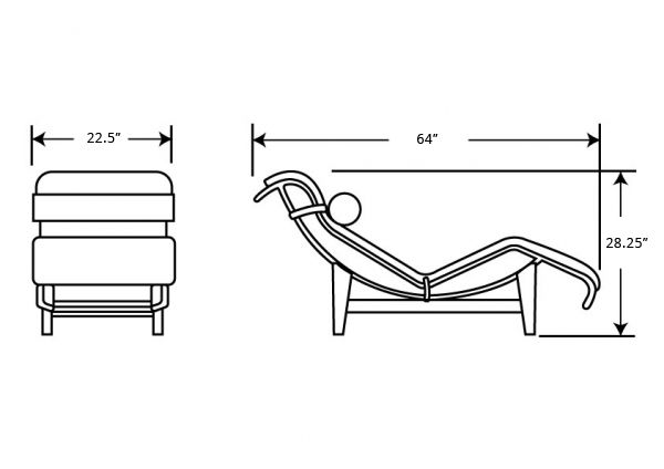 dimensions for lc4 chaise lounge 4x4 pinterest for
