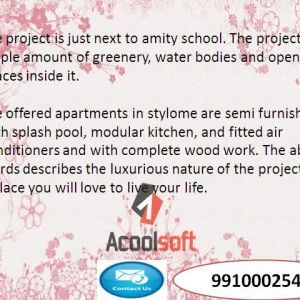 Prateek stylome sector 45 (9910002540) noida resale flats