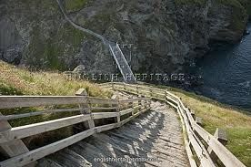 Scary steps up to Tintagel!