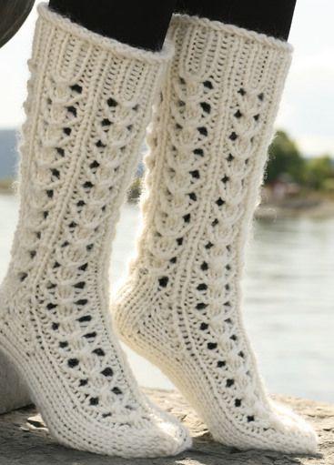 Еще одни ажурные носочки. | Клубок
