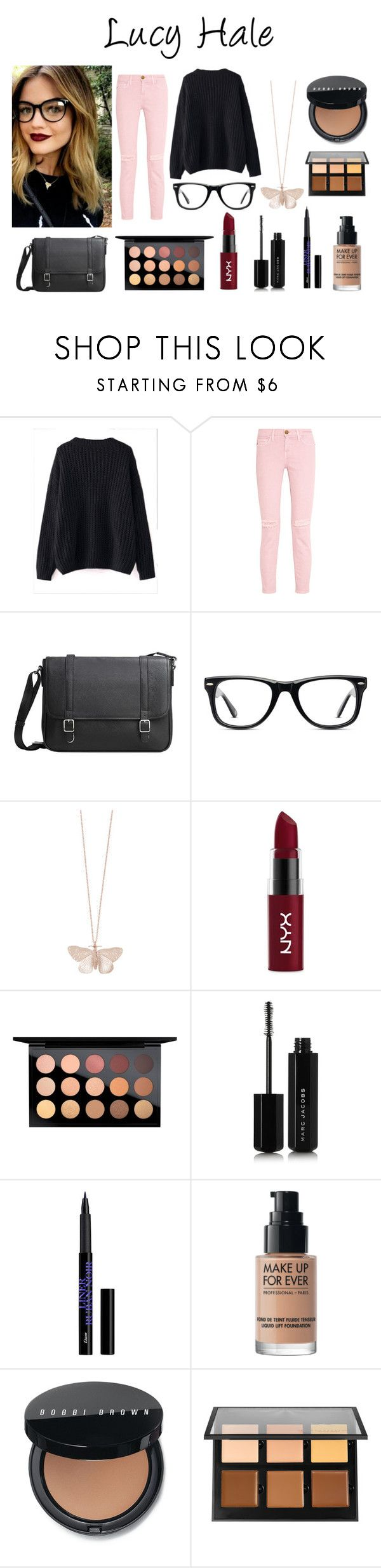 """""""Lucy Hale"""" by netflixqueen04 ❤ liked on Polyvore featuring WithChic, Current/Elliott, MANGO, Muse, Alex Monroe, NYX, MAC Cosmetics, Marc Jacobs, MAKE UP FOR EVER and Bobbi Brown Cosmetics"""