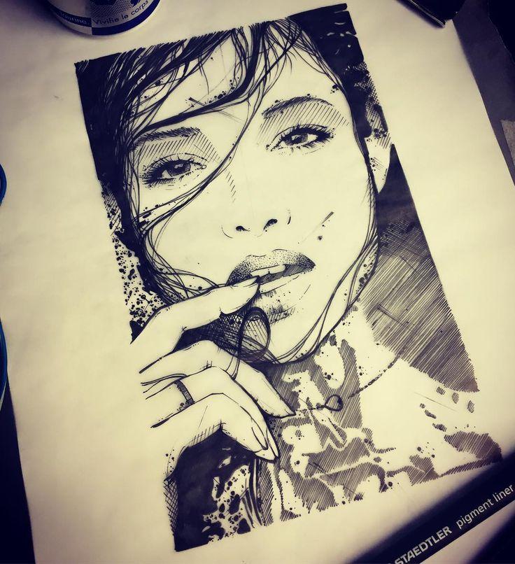 ink #inked #tattoo #tattoos #tattooed #tattrx #btattooing #blackwork #dot #draw #drawing #blackandwhite #blackworkers #iblackwork #dotwork #blxckink #sketch  #vsco #darkartists #black #illustration #art #graphic #child #onlythedarkest #girl #face