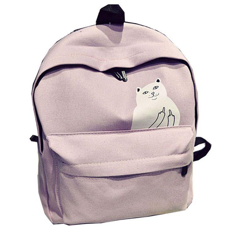 Kitty Middle Finger Backpack