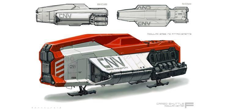 Spaceship concept art for ELYSIUM by Ben Mauro