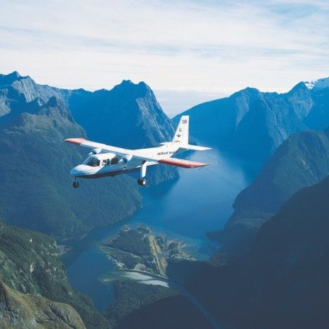 Milford Sound: Fly - Cruise - Fly. The Ultimate Fiordland experience. Journey across the Southern Alps with a scenic flight before landing at one of New Zealand's most spectacular air strips. Then see the sheer size of the mountains plunging into the fiord from sea level with a cruise along the famous Milford Sound. #UltimateQueenstown