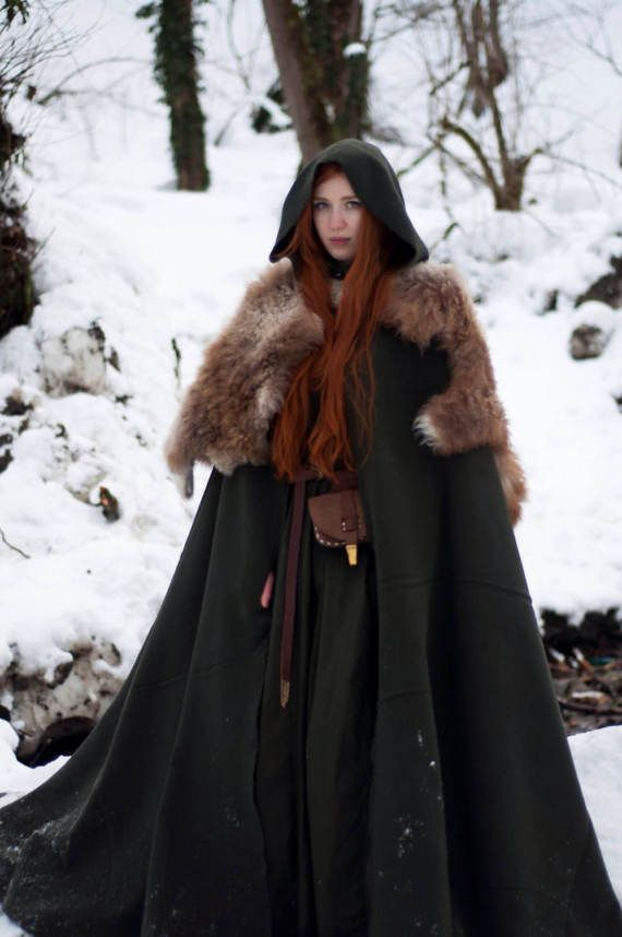 Wool cape; viking cloak; viking costume; wool cloak; winter clothes; medieval