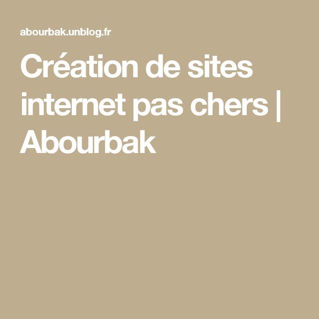 Création de sites internet pas chers | Abourbak