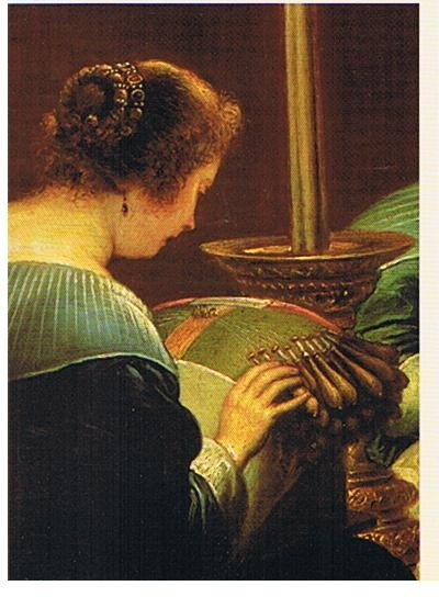 picture of woman lacing