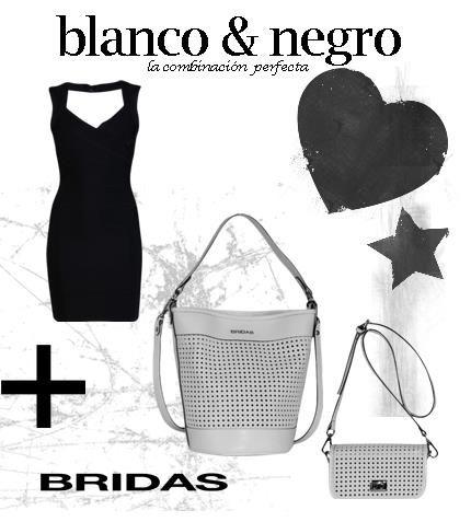 White /blanco y negro esa es la propuesta de Bridas para esta primavera verano 2013 en bolsos de piel #bridas #clenapal