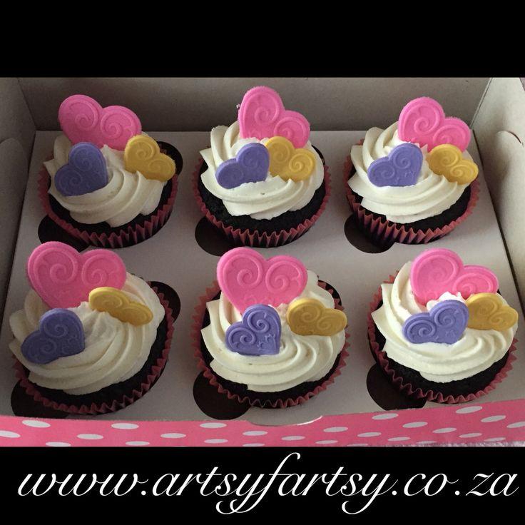 Hearts Cupcakes #heartscupcakes