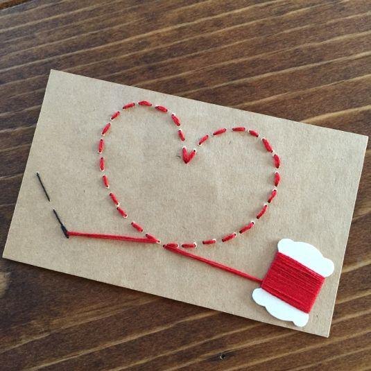 赤い糸のメッセージカード