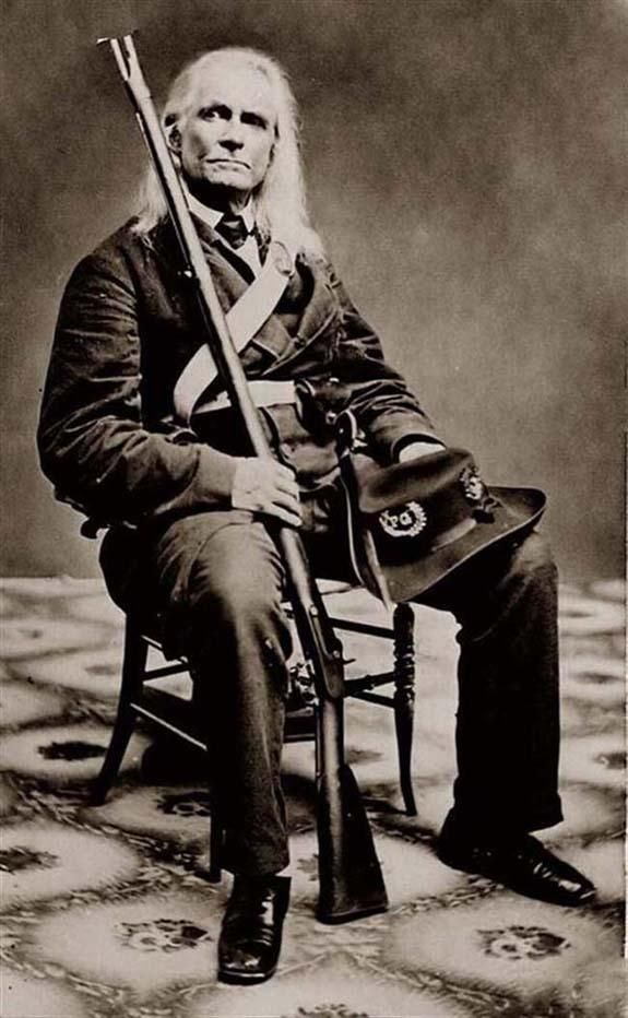 """Edmund Ruffin (January 5, 1794 – June 17, 1865) was a farmer and slaveholder, a Confederate soldier, and an 1850s political activist. He advocated states' rights, secession, and slavery and was described by opponents as one of the Fire-Eaters. He was an ardent supporter of the Confederacy and a longstanding enemy of the North.Because the widely held belief that he fired the first shot of the Battle of Fort Sumter, Ruffin is credited as """"firing the first shot of the Civil War."""""""