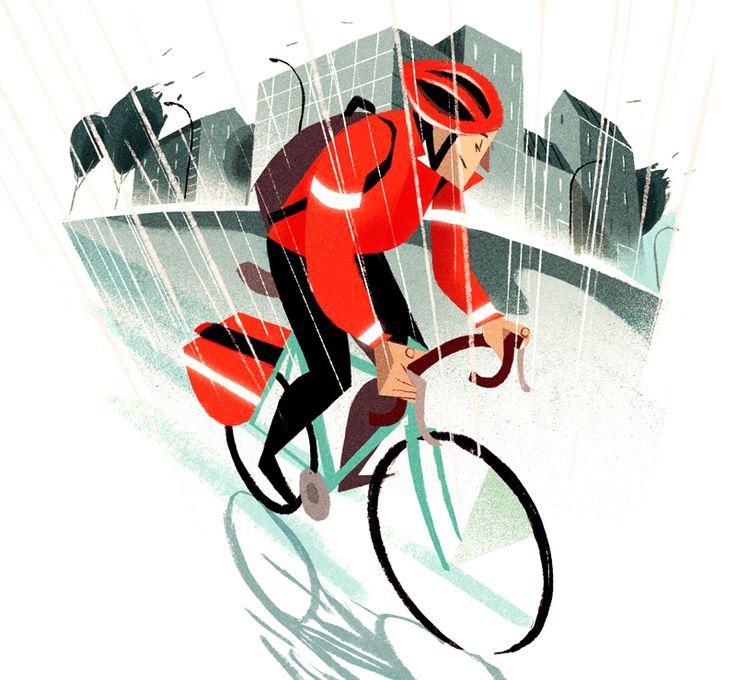 "Illustrazione per ""Cycling Plus Magazine""Immediate Media Co (UK)Riccardo Guasco 2015"