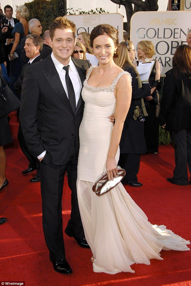 'I never want to talk about it. I can't do it' Emily said about her romance with the musician but added 'we had a good time'. She is pictured with Buble at the Golden Globes in 2007