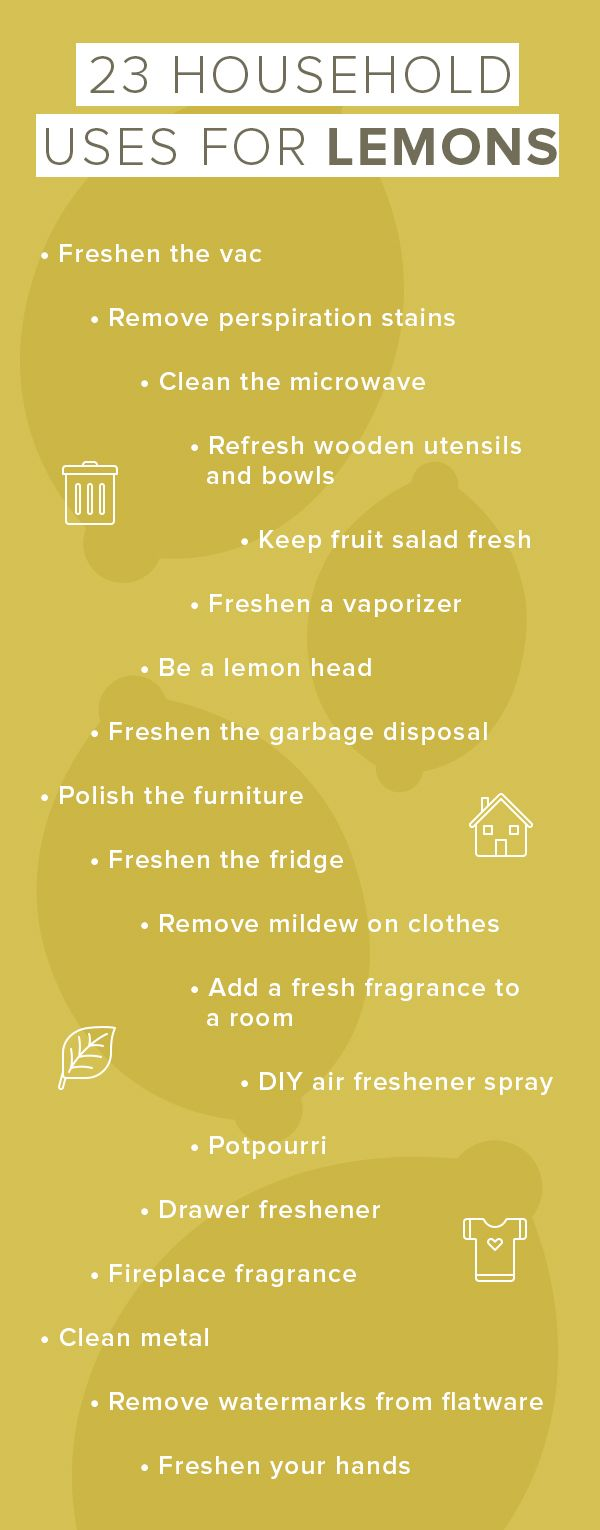 There are so many household items that you can simply use lemon to clean. It's the ultimate all-natural cleaning product.
