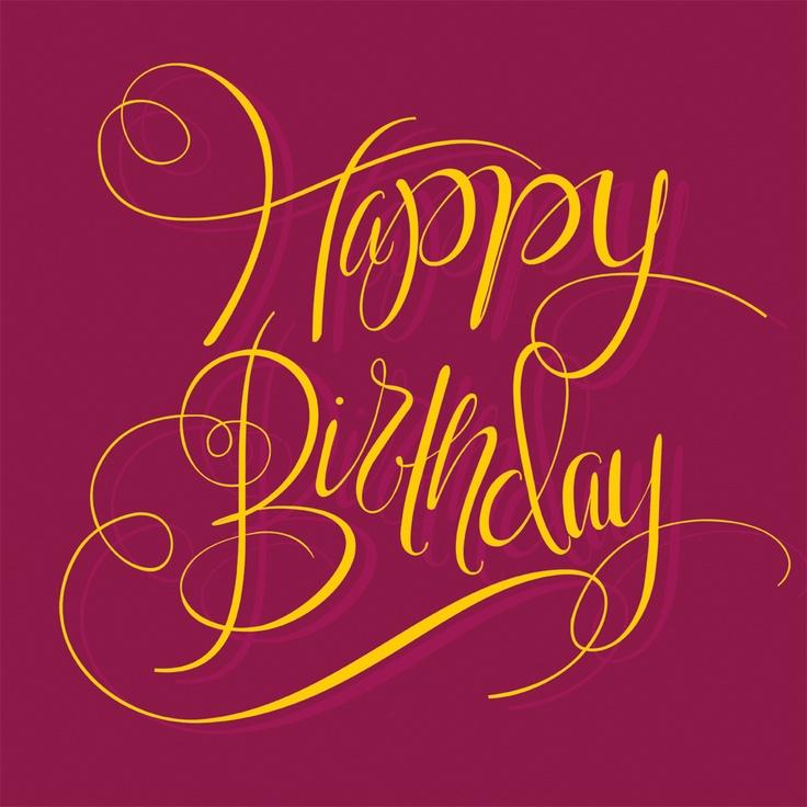 Happy Birthday - Cursive (With Images)