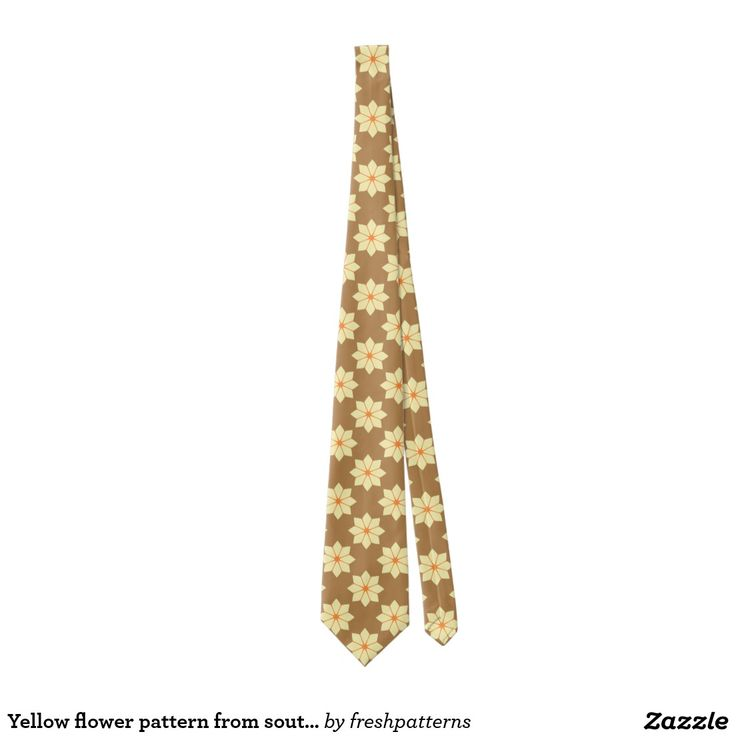 Yellow flower pattern from southern France Tie