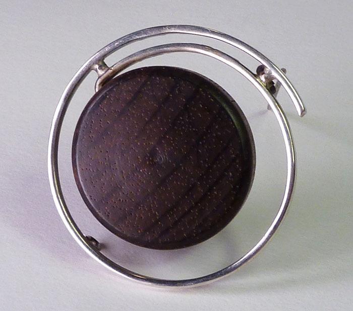 Vintage Modernist Sterling Rosewood Geometric Pin Kaija Aarikka Finland 1963 | eBay