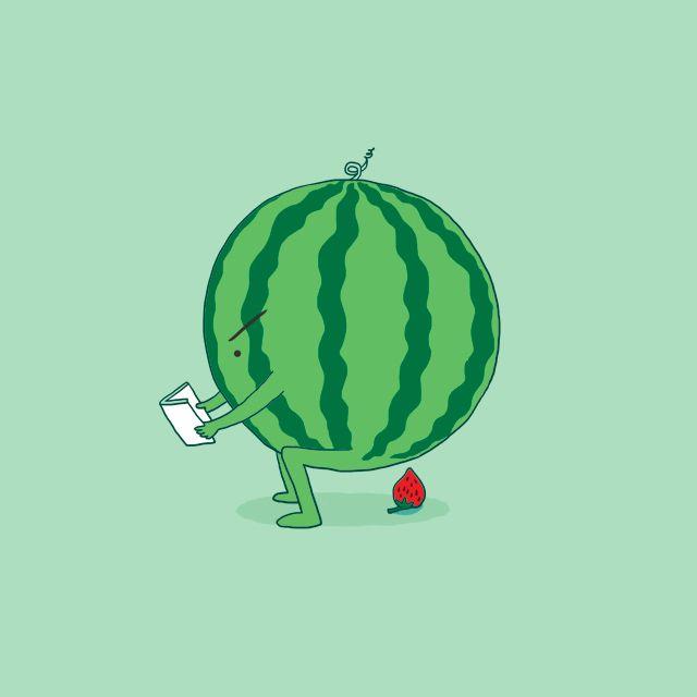 Рисунок смешного арбуза