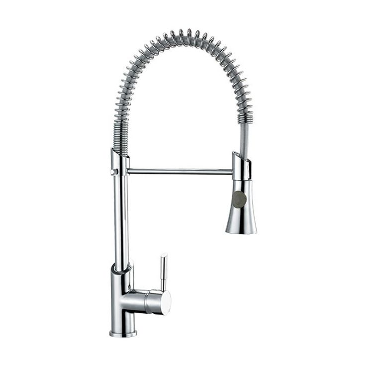 Chrome Pull-Down Spray Kitchen Tap - Image 1