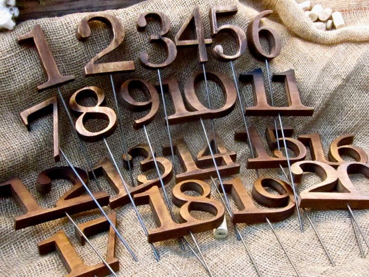 Rustic Wooden Table Numbers For Wedding And Reception Decor 1 20 280 00