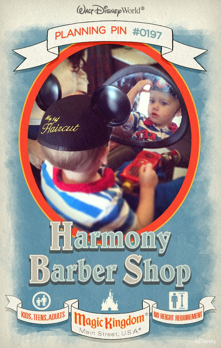 Walt Disney World Planning Pins: Harmony Barber Shop