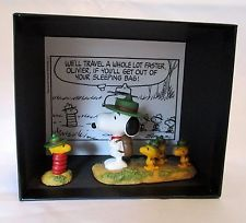 Snoopy Museum Tokyo Limited Scene Figures Beagle Scout Resin W13×H11×D8.5cm New