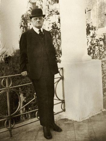 Jean Sibelius on Capri in 1926.
