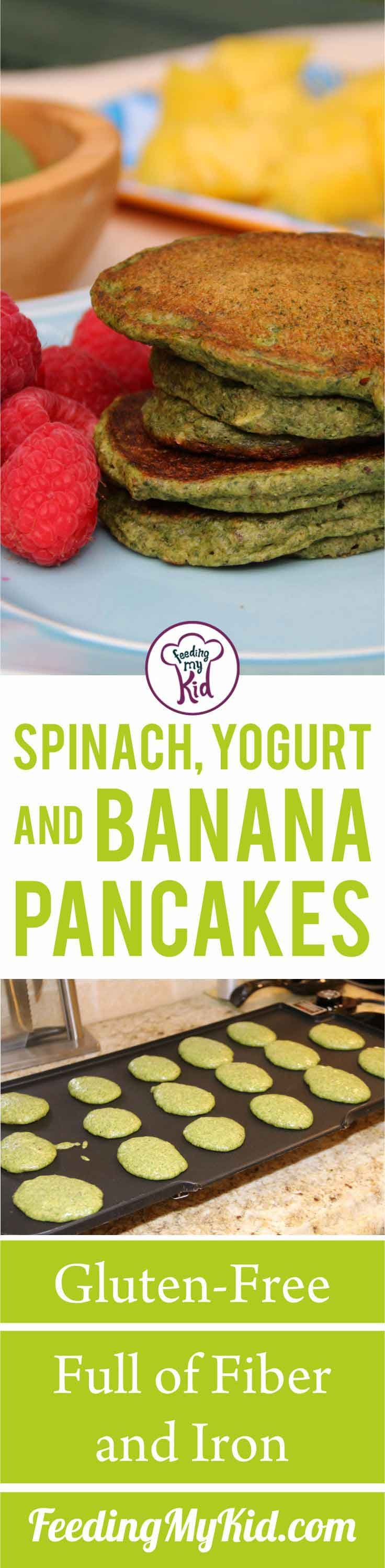 These spinach-filled healthy pancakes are delicious and full of added nutrition. Try these out for breakfast for a vitamin-packed start to your day.