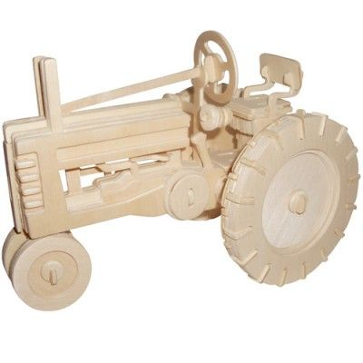 Woodcraft Drevené 3D puzzle Traktor