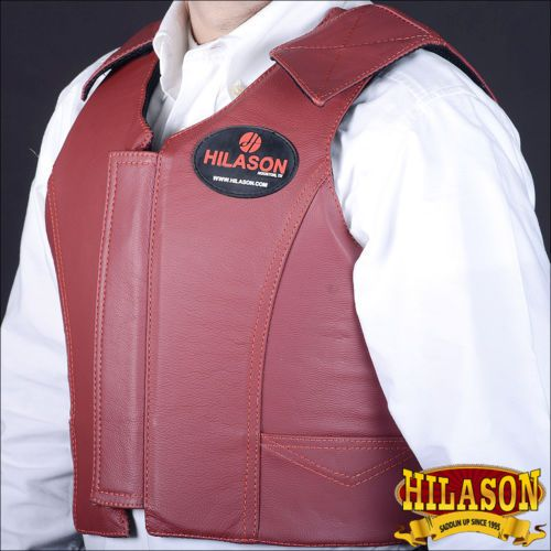 Other Protective Gear 87446: Pv111-F Hilason Leather Bareback Pro Rodeo Horse Riding Protective Vest Xx Lrg -> BUY IT NOW ONLY: $164.99 on eBay!