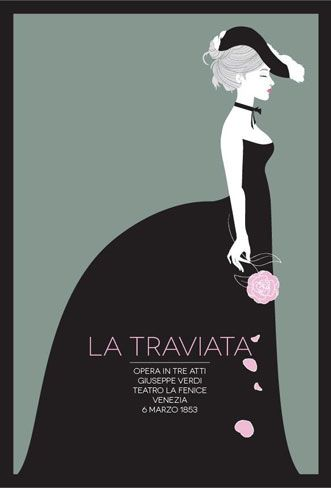 La Traviata, Verdi - Opera Poster http://mosletstudio.tumblr.com/
