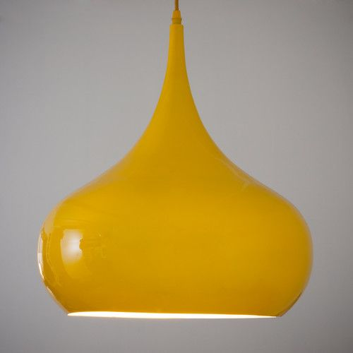 Lampadario giallo in metallo D 42 cm NOVA