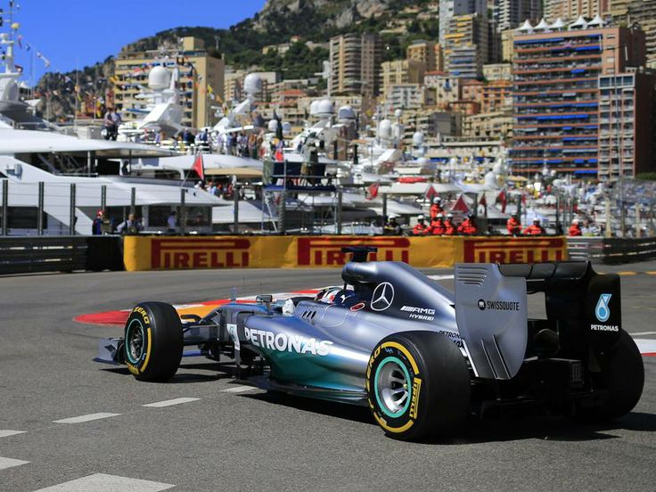 Lewis Hamilton drives during the third practise of the Monaco Grand Prix, he has won four of first five races this season