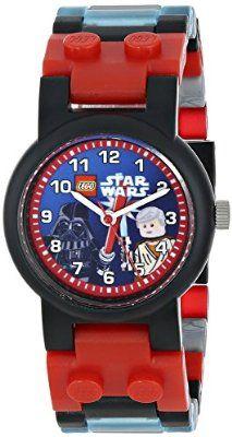 "LEGO Kids' ""9001192"" Star Wars Darth Vader vs. Obi-Wan Kenobi Multicolor-Plastic Bracelet Watch With Two Minifigures"