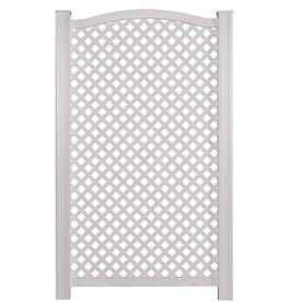 Barrette 59-in x 36-in White Vinyl Polyresin Outdoor Privacy Screen