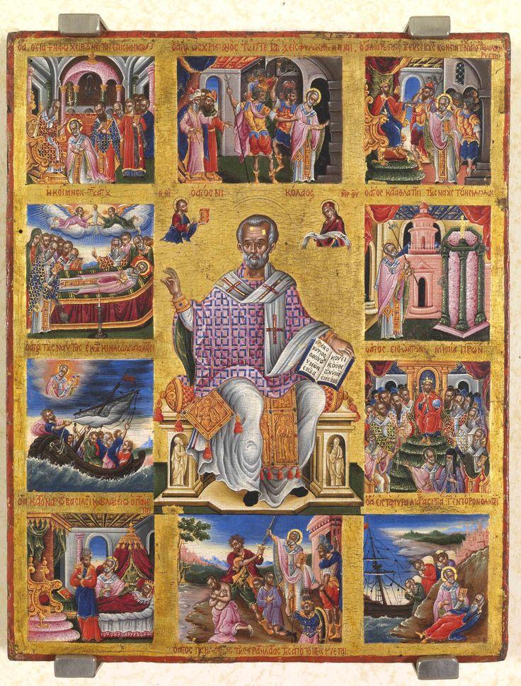 St Nicolas and scenes of his life. 2nd half of the 17th c. The Hellenic Institute for Byzantine and Post-Byzantine Studies in Venice (Istituto Ellenico di Venezia).
