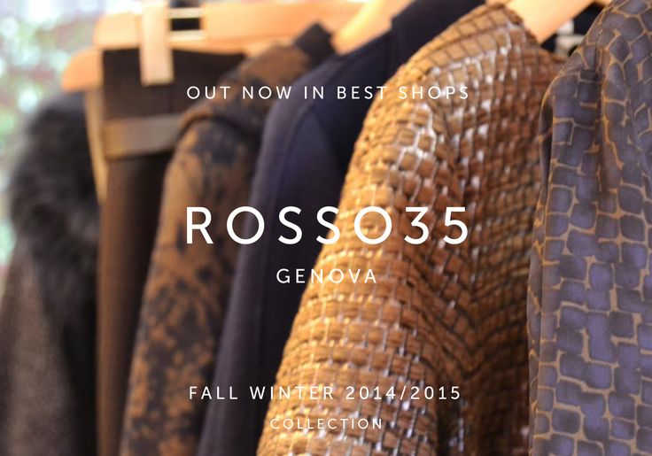 #Rosso35 Fall Winter Collection 2014/2015