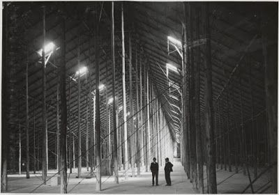 The interior of the Stick Shed, probably early 40s, taken by the State Rivers & Water Supply Commission.