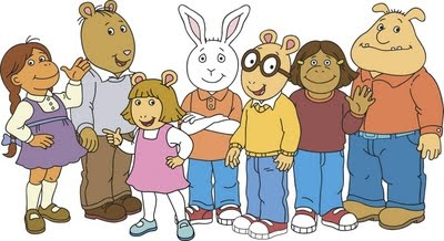 Muffy, Brain, Dora Winefred Reed A.K.A. DW, Buster, Arthur, Francine, and Binky!