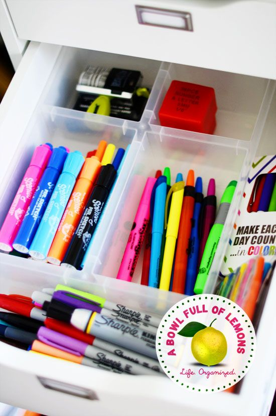 How to organize your home office | A Bowl Full of Lemons