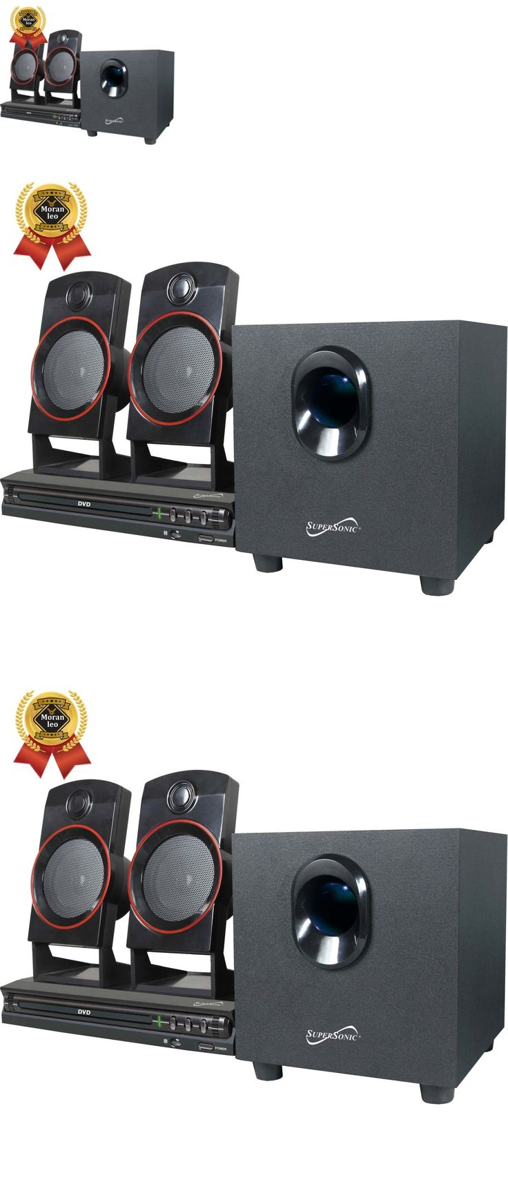 Home Theater Systems: 2.1 Channel Dvd Home Theater System Surround Sound  Speakers 21Ch New